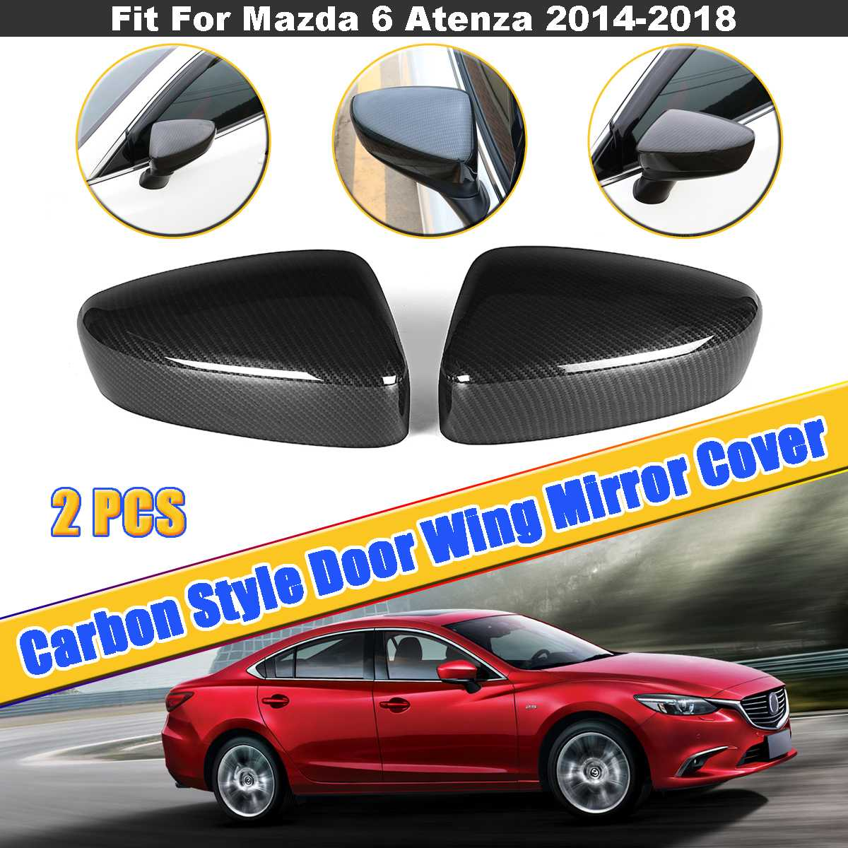 Black titanium water cup holder frame cover trim For Mazda 6 M6 Atenza 17-2018