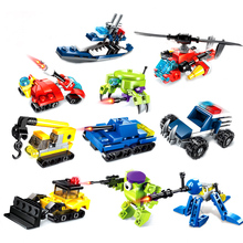 10 Pack Building Block Toys Model Robot Car Pioneer Special tactical Action  Robot Toys ABS Children's Educational Toy gift цены