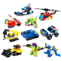 10 Pack Building Block Toys Model Robot Car Pioneer Special tactical Action Robot Toys ABS Children's Educational Toy gift