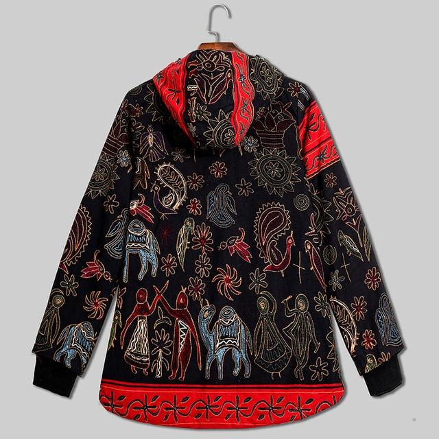 5XL Plus Size Thick Winter Women Coat Fashion Oversize Hooded Long Sleeve Fleece Lined Warm Parka Vintage Ladies Winter Jacket 4