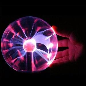 Image 3 - 4/5/6/8 Magic Globo di Cristallo Desktop Sfera di Plasma Lampada 8 w 12 v Touch nebula Luce Della Decorazione Per Le Feste A Casa Cafe Bar