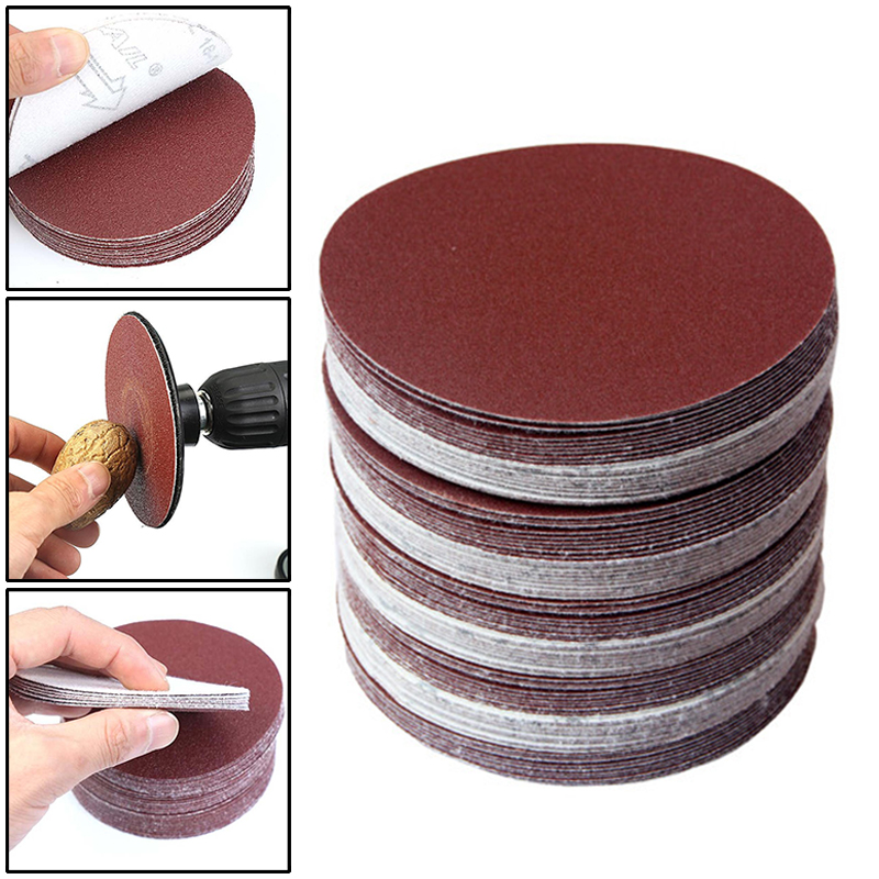 60pcs Set 75mm Sandpaper 320 400 600 800 1000 1200 2000 1500 Hook Loop Sanding Discs Flocking sandpaper high quality parts in Abrasive Tools from Tools