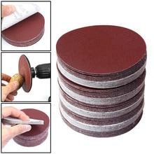 60pcs/Set 75mm Sandpaper 320/400/600/800/1000/1200/2000/1500 Hook Loop Sanding Discs Flocking sandpaper high quality parts
