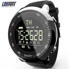 Lokmat mk18 스포츠 시계 블루투스 방수 남자 스마트 시계 디지털 울트라 롱 대기 지원 통화 및 sms 알림 smartwatch