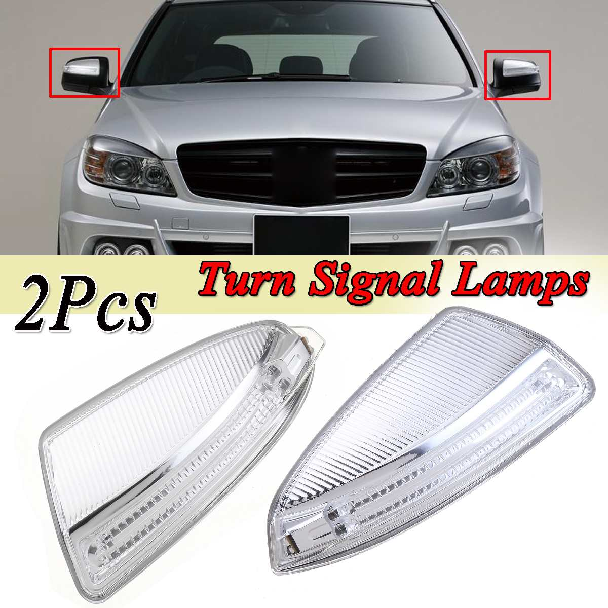 Left / Right W204 Door Rear View Mirror Side Mirror Turn Signal Lights Lamps For Mercedes For Benz ML Class C Class W204