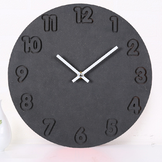 Creative Wooden Clocks Living Room Round Digital Watch By Solid Wood Silent Hang Wall Clock Home Decoration Single Face Clocks