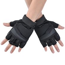 Outdoor Airsoft Knuckle Half Finger Motorcycle Cycling Gloves Outdoor Sport Gloves Tactical Gloves Fingerless Military P30