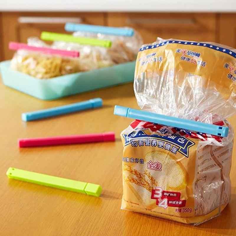 6 Pcs Food Snack Bolsa Clipes Sealer Braçadeira de Vedação Selo Crianças Cozinha Ferramenta