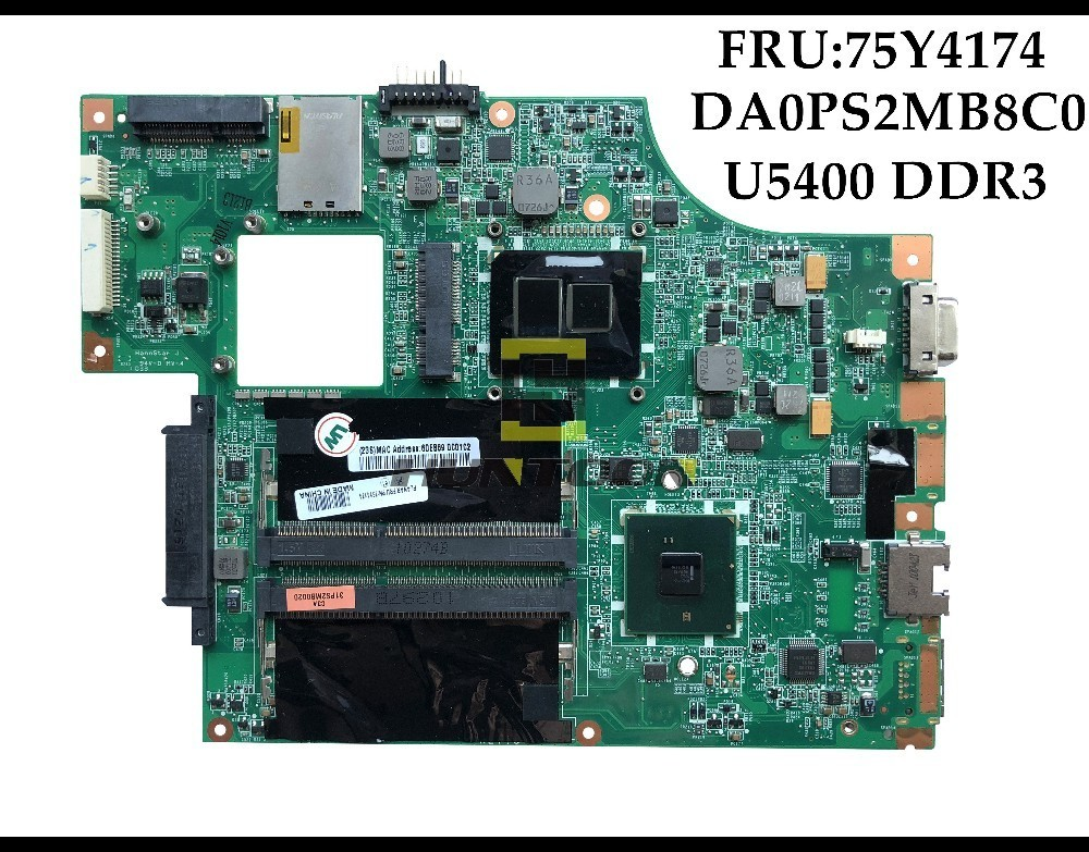 Genuine FRU:75Y4174 For Lenovo IBM Thinkpad Edge 13 E30 Motherboard DA0PS2MB8C0 U5400 HM55 DDR3 100% Fully Tested&High quality-in Motherboards from Computer & Office    1