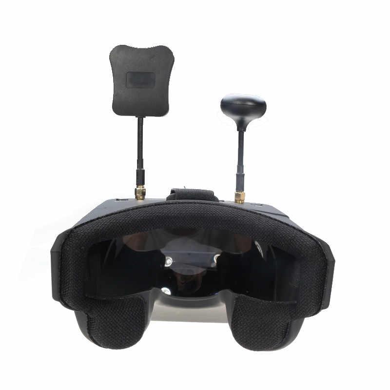 Eachine EV800D FPV lunettes 5.8G 40CH diversité 5 pouces 800*480 casque vidéo HD DVR construire dans la batterie pour les modèles RC en Stock