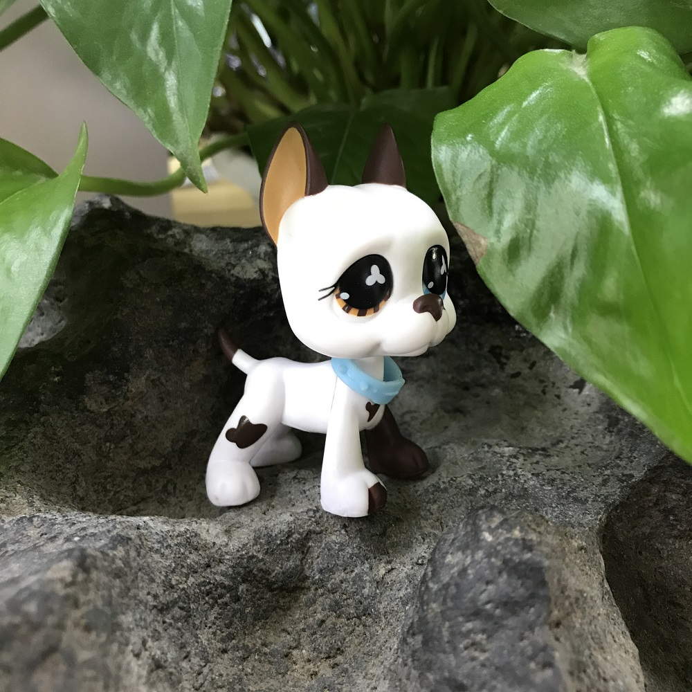 LPS Hasbro Littlest Pet Shop Gift 577 Great Dane Dog Flower Eyes Toy Accessories