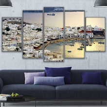 Canvas Print Poster 5 Piece City Building By The Sea View From The Top Landscape Picture Wall Art Home Decor Living Room Artwork harry n the art of john biggers view from the upper room