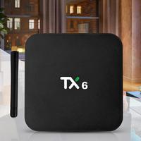 Tanix TX6 Allwinner H6 Android 9,0 четырехъядерный Smart tv Box 2G + 16 GB 2,4G WiFi телеприставка медиаплеер