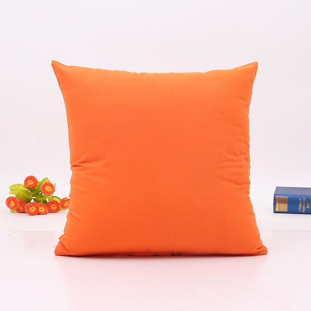 Купить с кэшбэком Decorative throw pillows pure color cushion for sofa home decor Almofadas pillowcase of office size 45x45cm
