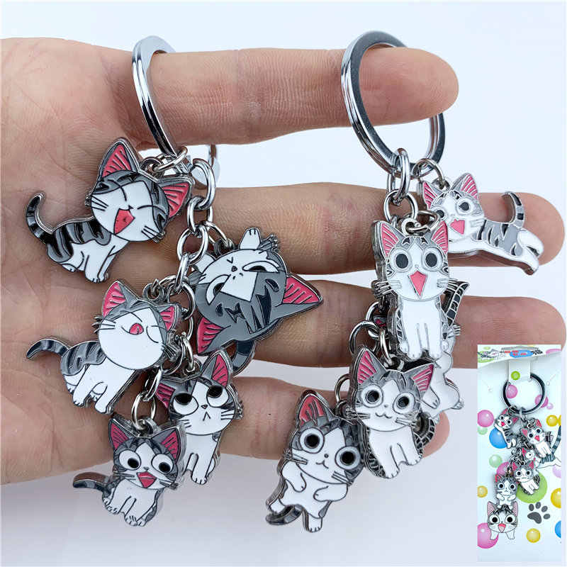 Cartoon Chi's Sweet Home Action Figure Keychain Keyring 5 in 1 set Metal Pendants Cute Cats Key Ring Cosplay Accessories Gift