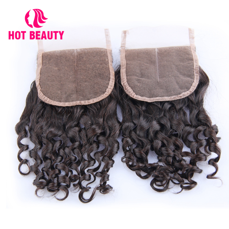 Hot Beauty Hair Closure Funmi Super Double Drawn Small Kinky Curl 4 4 Lace Closure Free