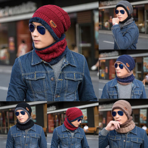 ed979c1386c 2PCS Set Women Warm Crochet Knit Wool Beanie Skull Hat Ski Cap And Scarf Set  US ...