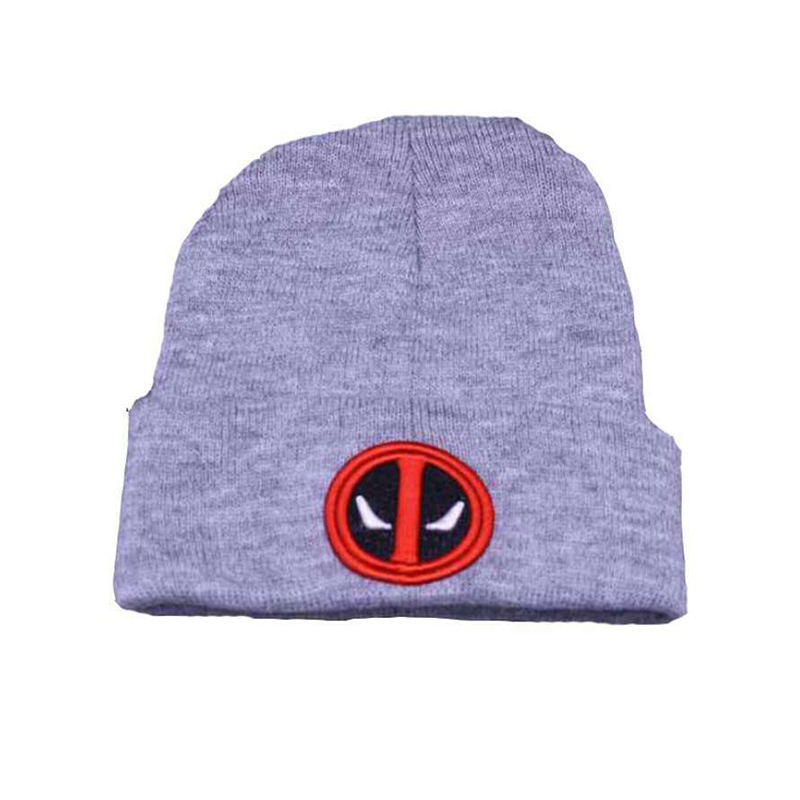 55d7a6b805a99 Marvel Avengers Deadpool Hulk Thor Black Skullies Beanie Knitted Cotton Hat  Cap Cosplay Costume Unisex Fashion Gifts Cool-in Skullies   Beanies from  Apparel ...