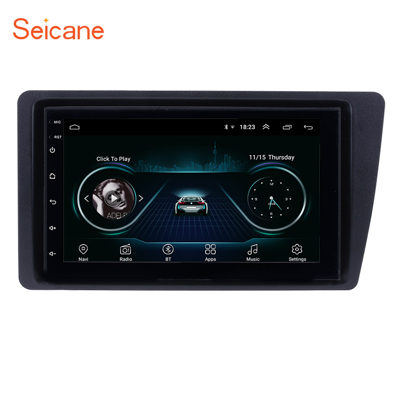 Seicane Android 8.1 Car Radio Head Unit Player For 2001-2005 <font><b>Honda</b></font> <font><b>Civic</b></font> left hand drive GPS Navigation Support Mirror Link SWC image