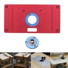 Мульти-функциональный красная алюминиевая маршрутизатор стол вставка подставка-держатель винт для деревообработки скамейки триммер