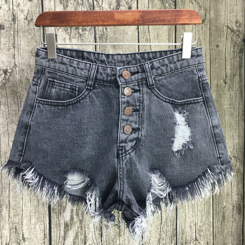 Sexy Jeans Shorts Women Summer Tassel Mini Denim Short Feminino Casual Vintage Jean Ripped Hole Shorts Plus Size S-3XL Price $18.32