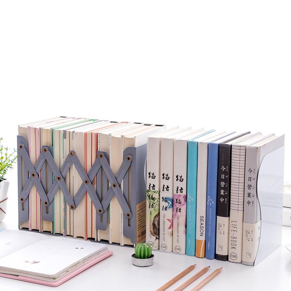 Verstelbare Telescopische Boek Stand Stretch Boekensteunen Plank Opbergrek Antislip Tijdschrift Bestand Kantoor Bibliotheek Thuis Studie Boekenplank