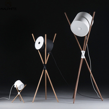 Modern Wooden Frame LED Floor Lamps For Living Room Lamp Light Standing Lighting Luminaire Stand Bedroom