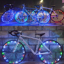 20 LED Motorcycle Cycling Bicycle Bike Wheel Signal Tire Spoke Light 30 Changes 3 Modes Bicycle Spoke Light цена