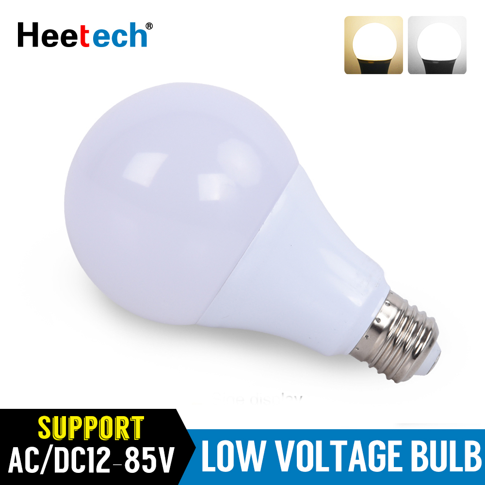 DC AC 12V-85V  LED Light Bulb E27 Lamp Bulbs 3W 7W 9W 12W 15W 24W 36W Bombilla For Solar Light Camping 24V 36V 48Volts Lights