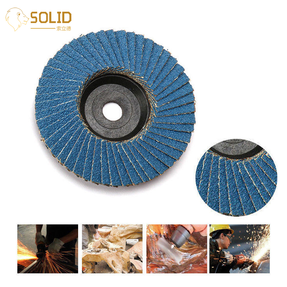 Sanding Flap Disc Polishing Wheels 80 Grit For Abrasive Tool Angle Grinder Grinding Metal,Wood And Plastic 3 Inch