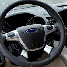 Мой хороший автомобиль ABS хромированная крышка рулевого колеса отделкой пайетками Стикеры для Ford Focus 3 Mk3 Kuga Escape 2012 2013 2 шт./компл