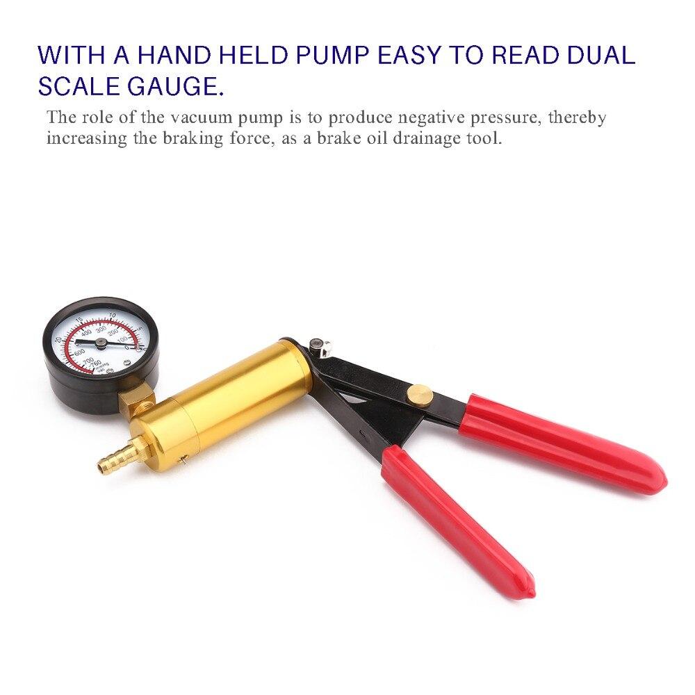 Image 5 - Vacuum Pump Kit Pump Car Motorbike Bleeding Hand Held Brake Bleeder Tester Set Vacuum Pump Car Motorbike Bleeding Tools-in Vacuum Pumps from Automobiles & Motorcycles