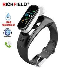 Smart Bracelet Blood Pressure Headphones Wireless Earphones Bluetooth Earphone Waterproof Watch Fitness Tracker Band