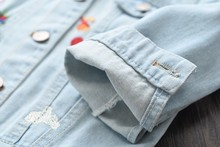 spring kids jackets for girls coat denim embroidery flower long sleeve baby girl jackets jean girl's clothing baby outfit
