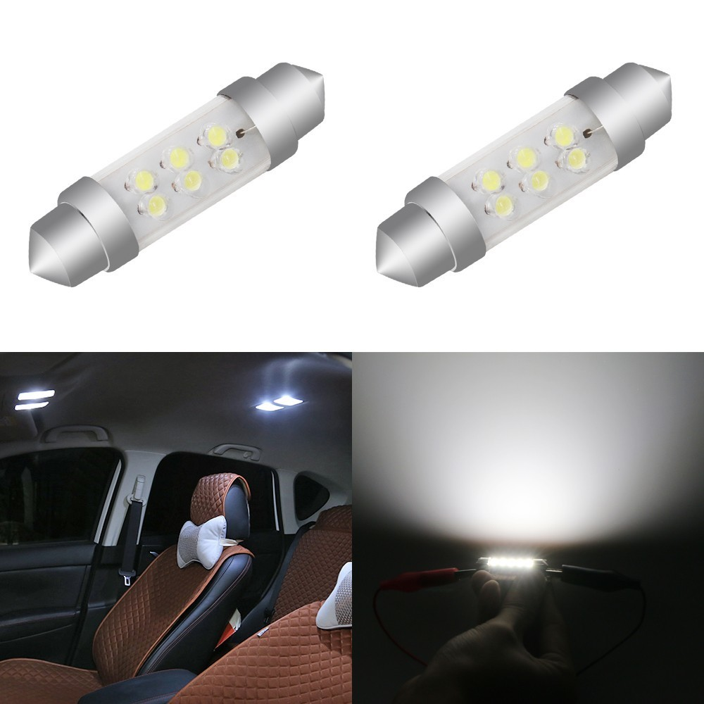 10 Pieces Festoon Cob 28mm 36mm 39mm 42mm LED Bulb C5W C10W Super Bright Canbus Auto Interior Doom Lamp Car Styling Light in Signal Lamp from Automobiles Motorcycles