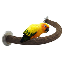 Pet Bird U Shape Wooden Stand Perch Parrot Foot Toy Gnawing Toy Bird Supplies Bird Cage Accessories Dropshipping