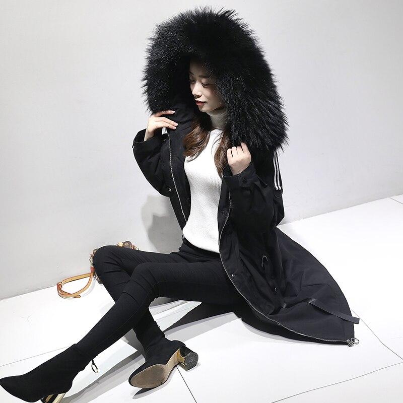 2019 Женское зимнее теплое пальто с капюшоном уличная Sustans армейская зеленая верхняя одежда Длинные парки - 2
