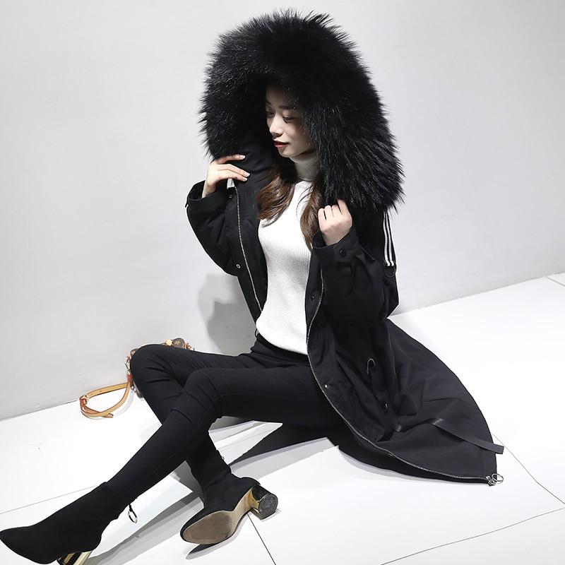 5xl plus size casaco de inverno feminino 2018 jaqueta de inverno com capuz acolchoado algodão parka longo alta qualidade quente jaquetas p672 - 2