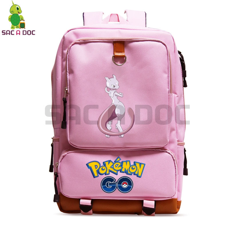 56fbb9e8997a Pokemon Go Mewtwo School Bag Laptop Backpack for Teenage Boys Girls Canvas  Travel Bags Women Men Pokemon Daily Backpack-in Backpacks from Luggage    Bags on ...