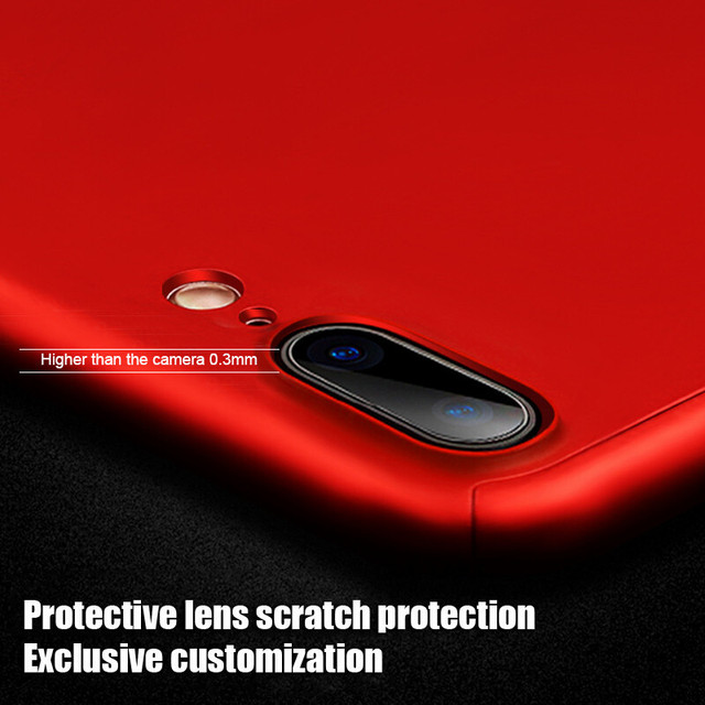 360 Full Cover Phone Case iPhone X 8 6 6s 7 Plus 5 5s SE PC Protective Cover iPhone 7 8 Plus XS MAX XR Case With Glass *33010809436