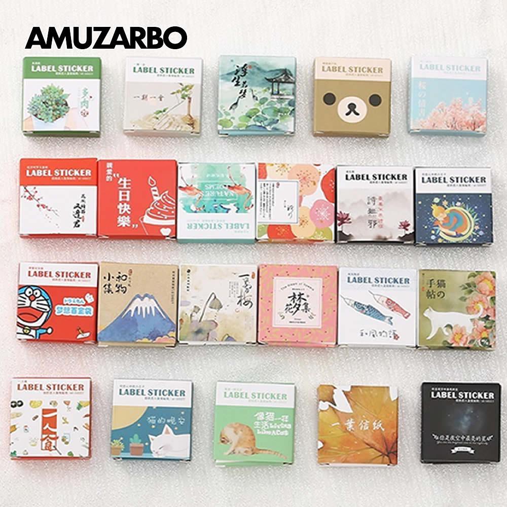 40 Pcs/box Mini Cartoon Decoration Sticker Decal DIY Hand Account Album Scrapbooking Seal Kawaii Stationery Gifts