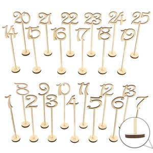 BMBY-Wooden Wedding Table Numbers 1-25 pcs Vintage Home Birthday Party Event Banquet Decor Anniversary Decoration Favors Signs(China)