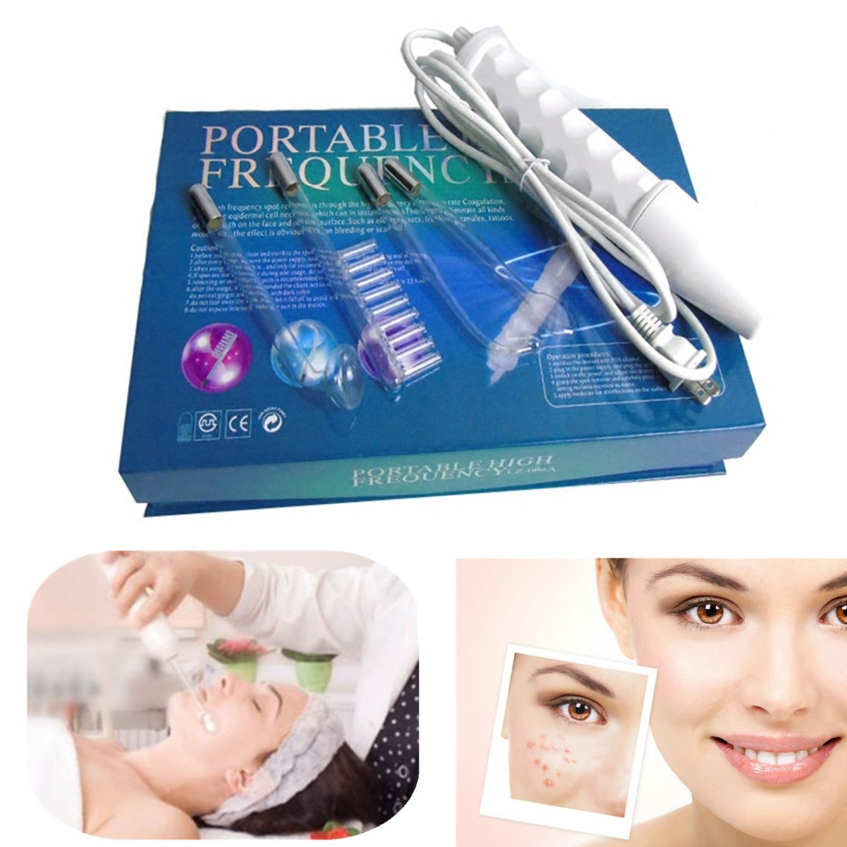 Portable Handheld High Frequency Skin Tightening Acne Spot Scar Fine Lines Remover Device Beauty Machine Facial Skin Care ToolPortable Handheld High Frequency Skin Tightening Acne Spot Scar Fine Lines Remover Device Beauty Machine Facial Skin Care Tool