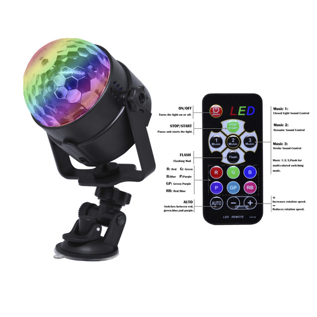 Remote control Led stage light RGB Colors DJ Disco Ball Lumiere Sound RGB Stage Lighting effect Lamp Light Music KTV Party