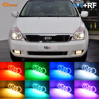 For KIA GRAND CARNIVAL VQ 2006 2013 Excellent RF Bluetooth Controller Multi Color Ultra bright RGB LED Angel Eyes Halo Ring kit