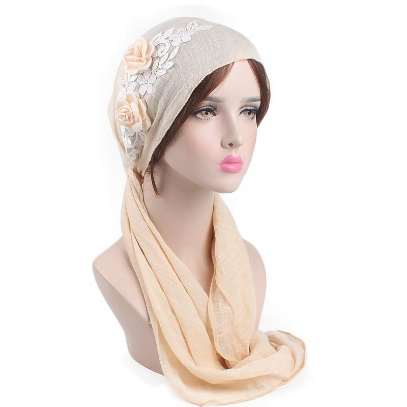 Muslim Sequin Cap Inner Hijab Islamic Headwear Hat Underscarf Women Turban Hijab