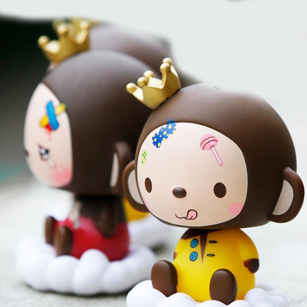 Kids Toys Ornaments Car-Decoration Monkey Bobblehead Artifact Action-Figure Cartoon-Model