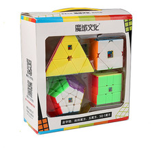 MOYU 4 Piece Set Cube Magic Box Professional Gift Childrens Four Toys for kids