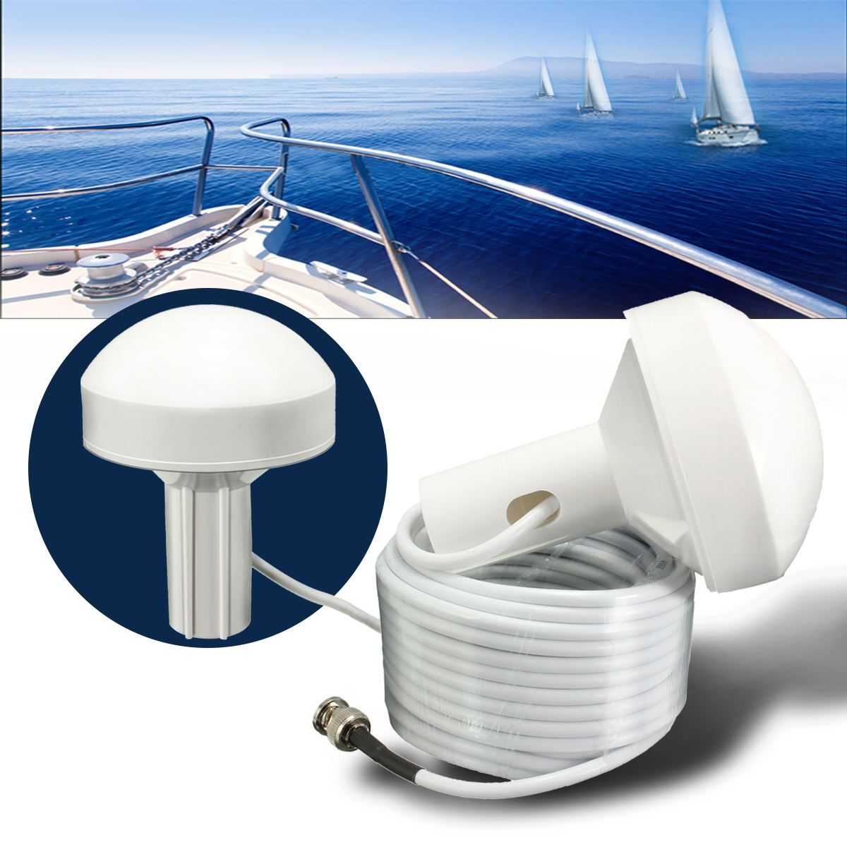 1pcs External Marine Boat cable marine positioning navigation active GNSS Gps antenna, BNC connector, cable length 5M1pcs External Marine Boat cable marine positioning navigation active GNSS Gps antenna, BNC connector, cable length 5M