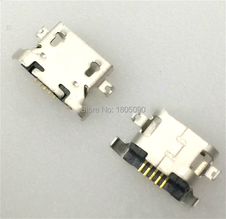 100pcs Micro USB 5pin Heavy Plate 1.27mm Without Curling Side Female Connector For Lenovo A850 Mini USB Jack